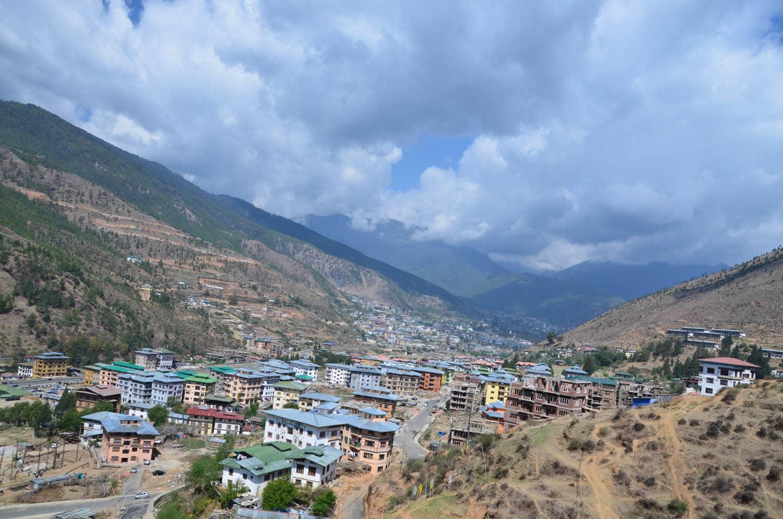 Vue sur Thimphu