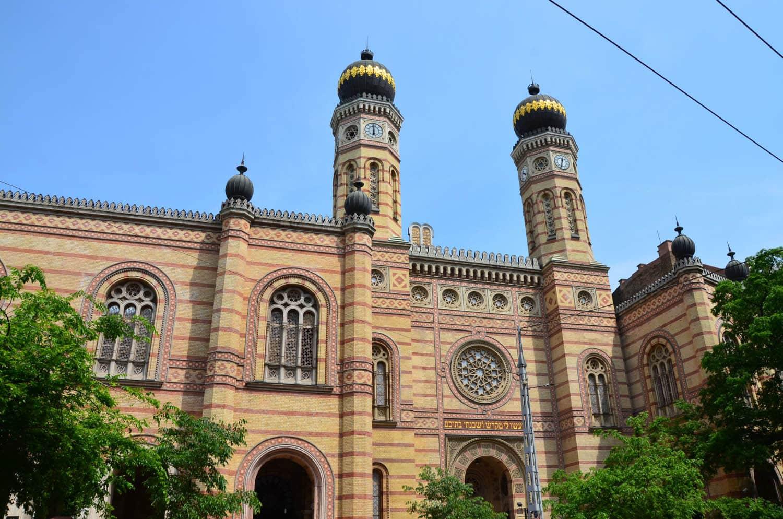 Entrée de la synagogue Nagy