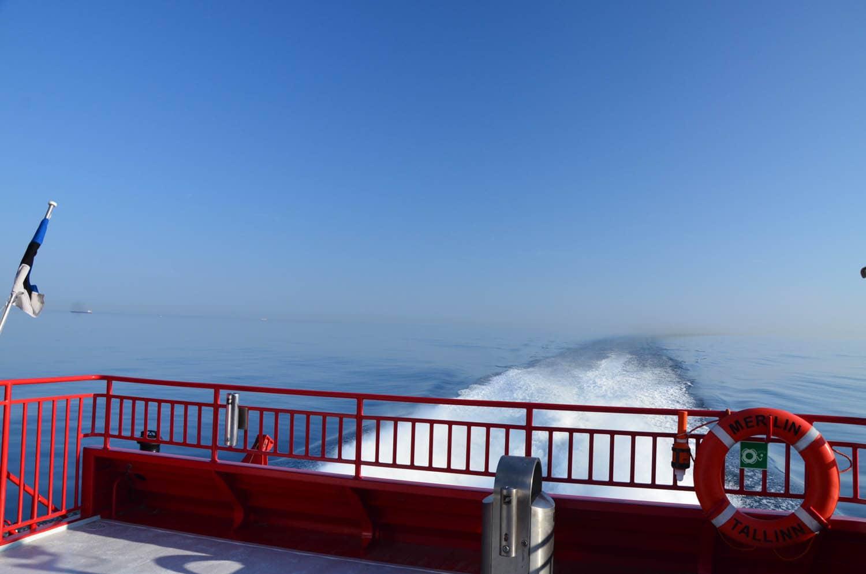 A l'arrière du ferry ...