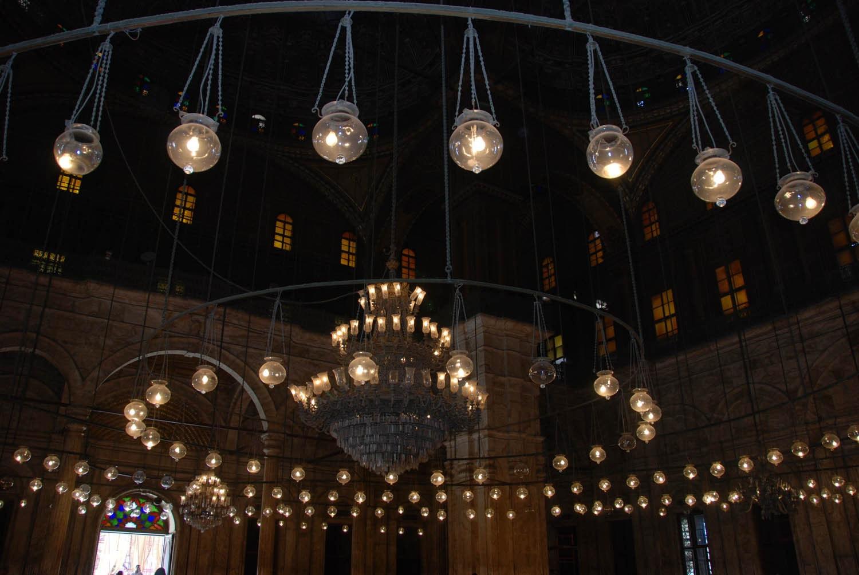 Intérieur de la mosquée Mohamed-Ali