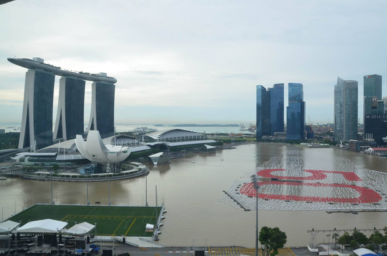 Lumière du matin sur Marina Bay Sands